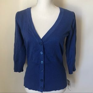 AB Studio NEW blue cardigan sweater womens medium
